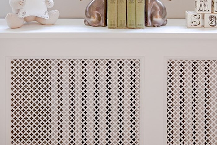 White Radiator Cover shown in Brooklyn NY