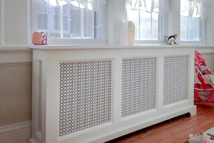 White Radiator Covers shown in Chicago IL