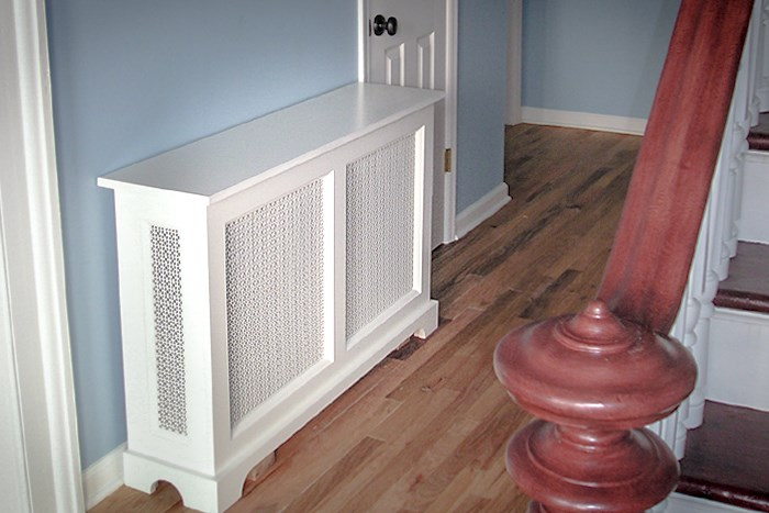 Stylish and Inexpensive Custom Radiator Cover seen in Washington DC