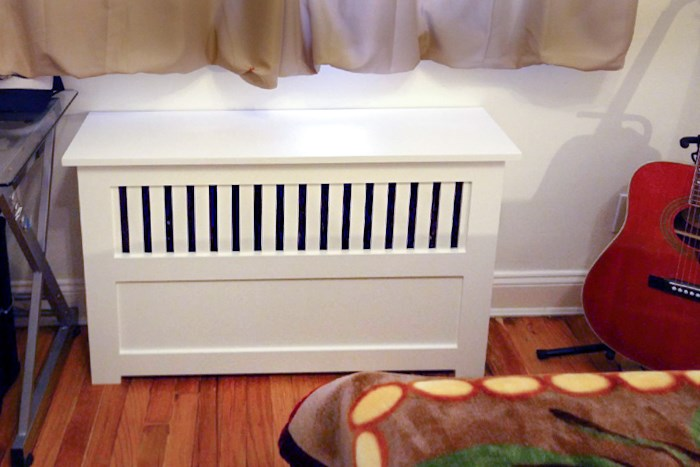 White Custom Radiator Covers photographed in Philadelphia PA