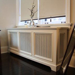 Back Bay Style Radiator Cover, as seen in Manhattan, New York