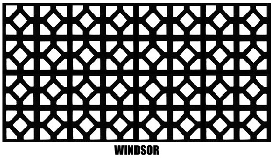 Example of our Windsor Radiator Cover Screens and Mesh that are available for sale with or without our Radiator Enclosures